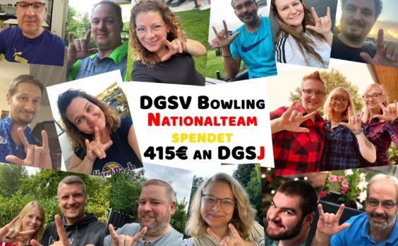 DGSV Bowling Nationalteam spendet an DGSJ